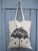 Image of I Love Wellington tote bag Charcoal