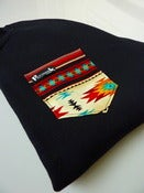 Image of Red Aztec Pocket Crew Neck Unisex