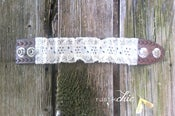 Image of Vintage Lace Wrapped Snap Leather Cuff