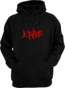 Image of Red Text Logo LIMITED FULL-Embroidery Pullover Hoodie