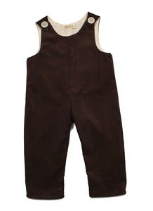 Image of Brown Corduroy Overalls