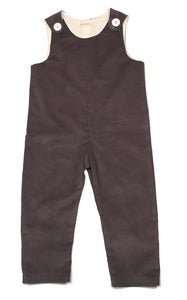 Image of Grey Corduroy Overalls