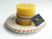 Image of 3 &quot; Diameter Beeswax Pillar Candle 