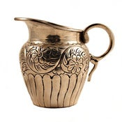 Image of Floral Silver Creamer
