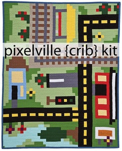Image of Pixelville {crib} Quilt Kit