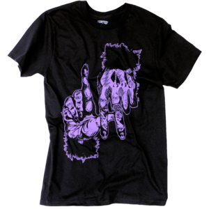 Image of Ape Fingers LA Tee (Black/Purple) *ON SALE*