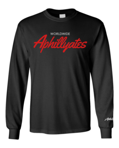 Image of Worldwide Aphillyates Long Sleeve Tee (Black)