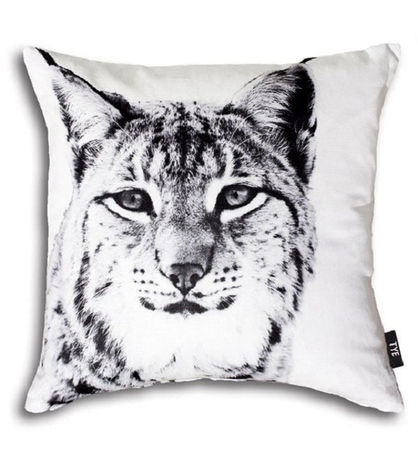 "Image of Swedish Pillow Cover - ""Lynx"" (cotton)"