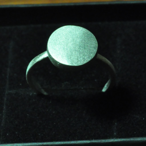 Image of Full Moon Sterling Silver Ring