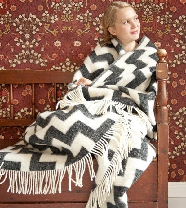 Image of Beautiful Scandinavian Wool Blanket 