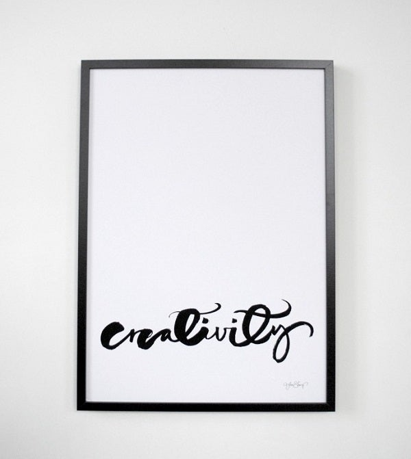 Image of Swedish Calligraphy Print - &quot;Creativity&quot;
