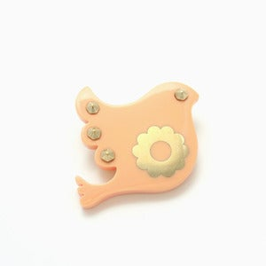 Image of Freedom Brooch | Milky Peach + Golden
