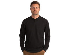 Image of FTX HENLEY - BLACK FLEECE