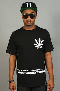 Image of Bud Leaf Rugby Tee Black