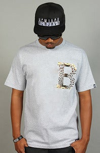 Image of Gianni Leopard B Tee Gray