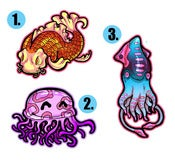 Image of Jellyfish/Squid/Koi Sticker