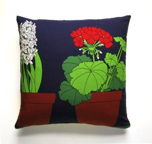 Image of Vintage Fin-Helen Fabric Pillow(s), 18&quot; x 18&quot;