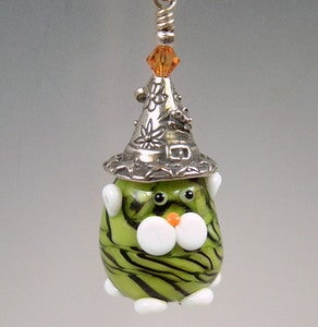 Image of Halloween Kitty Witch pendant