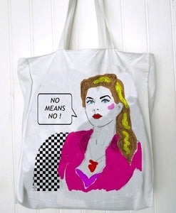 Image of Sac totebag No means NO by Dadawan
