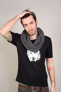 Image of Tee Shirt Homme WOLF Col.Noir
