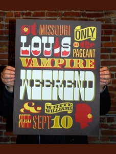 Image of Vampire Weekend Poster -St. Louis