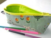 Image of Pencil case - green kittens