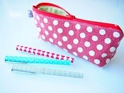 Image of Pencil case - yuwa dots red