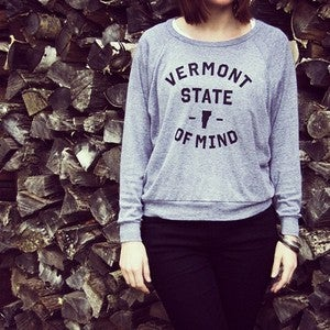 Image of Vermont State of Mind Pullover - Grey