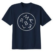 Image of Marble Letters Tee Shirt (Blue)