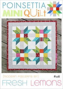 Image of Poinsettia Mini Quilt Pattern - PDF