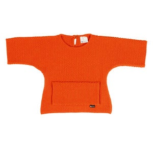 Image of l'asticot | orange woollen 'kimono' jumper