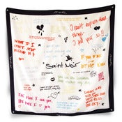 Image of NEW! Silk Scarf - Love Letter -------- 100% Silk  --------     Limited Edition