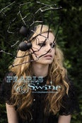 "Image of ""Come Into My Parlour"" Big Spider Web Black Fascinator Headdress Gothic Halloween Vampire Creepy"
