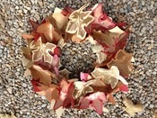 Image of Letterpress Autumn Leaf Wreath