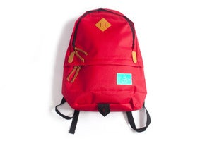 Image of Laser teal label daypack in Bright red