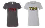 Image of TDE Heather Charcoal/Heather Gray (Women's) TEE