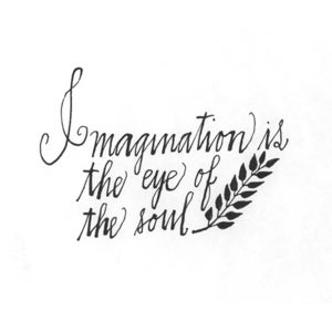 Image of Imagination is the Eye of the Soul Print