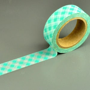 Image of Blue Gingham Washi Tape