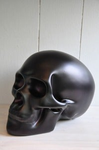 Image of Sacred Skull Ornament Matte Black
