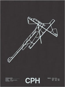 Image of CPH: Copenhagen Airport Screenprint