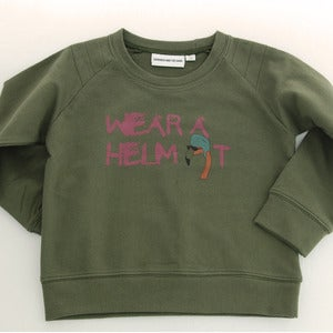 Image of Wear a helmet Sweater Khaki