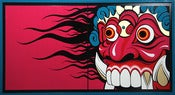 "Image of ""BALI MASK #1"" - ENAMEL KINGDOM"