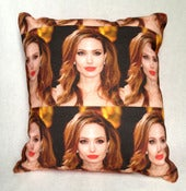 Image of SOLD OUT Angelina Jolie Mini Art Pillow