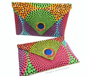 Image of Colorblock Envelope clutch
