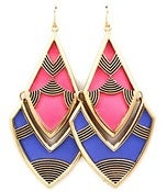 Image of Abstract Pink & Blue Earrings