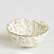 Image of Tangled Web Mini Bowl with gold lustre rim