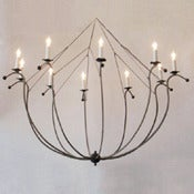 Image of 10 arm Fold-In Chandelier
