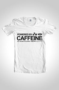 Image of Powered By Caffeine Cycling T-Shirt White