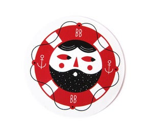 Image of Beard Buddy Sticker
