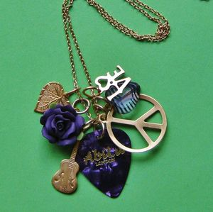 Image of Peace And Love Rocks Charm Necklace